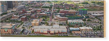 Bricktown Ballpark A Wood Print by Cooper Ross