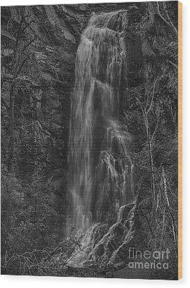 Bridal Veil Falls At Spearfish Canyon South Dakota Wood Print