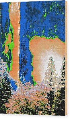Bridalveil Fall Abstract Wood Print