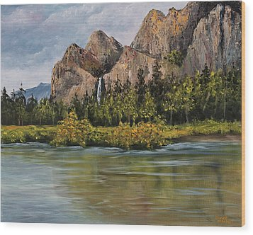 Bridalveil Fall Yosemite Wood Print by Darice Machel McGuire