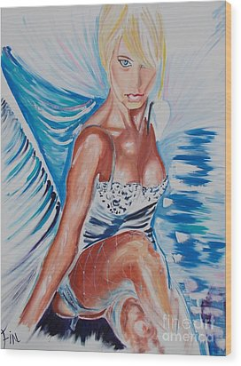Bride Angel Wood Print by PainterArtist FIN