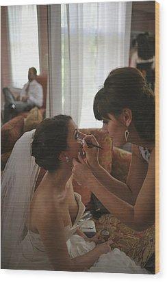 Bride Eyeliner Wood Print by Mike Hope