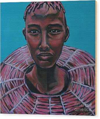 Bride - Portrait African Wood Print