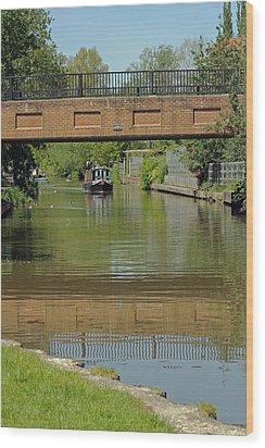 Bridge 238b Oxford Canal Wood Print by Tony Murtagh