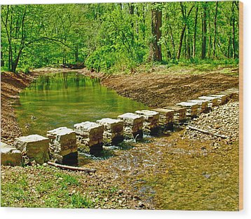 Bridge Across Colbert Creek At Mile 330 Of Natchez Trace Parkway-alabama Wood Print by Ruth Hager