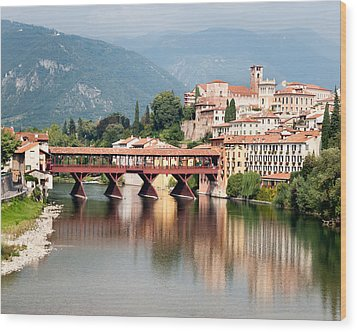 Bridge At Bassano Del Grappa Wood Print