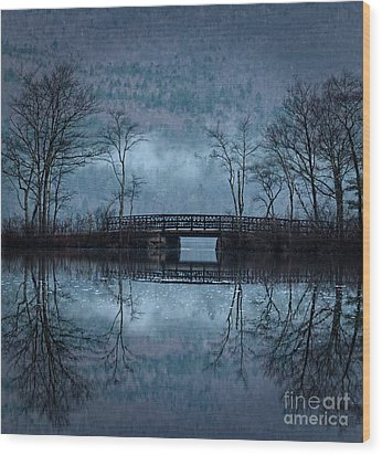 Bridge At Chocorua Wood Print by Sharon Seaward