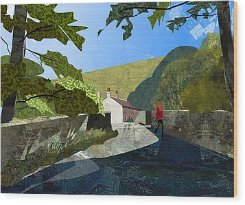 Bridge At Froggatt Wood Print by Kenneth North