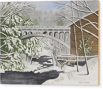 Bridge By The Mill - Mill Creek Park Wood Print
