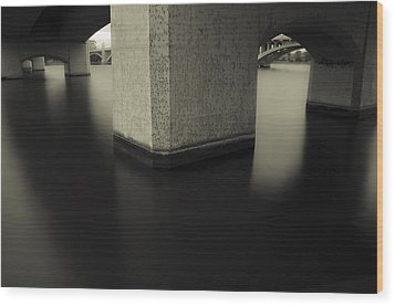 Bridge Contemplations Wood Print by Dave Dilli