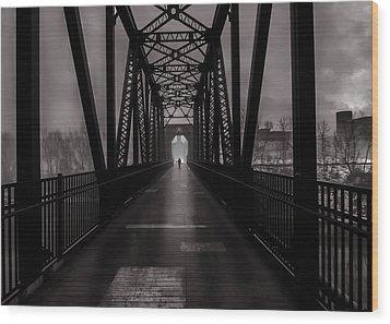 Bridge Crossing Wood Print by Bob Orsillo