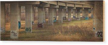 Bridge Graffiti Wood Print by Patti Deters