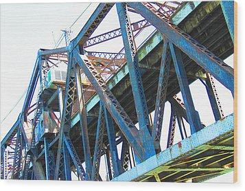 Bridge II Wood Print by Cindi Cereceres