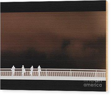 Bridge Inversion Wood Print by A K Dayton