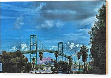 Wood Print featuring the photograph Bridge by Joseph Hollingsworth