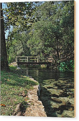 Bridge Of Serenity Wood Print by Judy Vincent