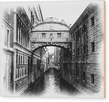 Bridge Of Sighs Pencil Wood Print