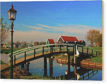 Bridge Over Calm Waters Wood Print by Jonah  Anderson