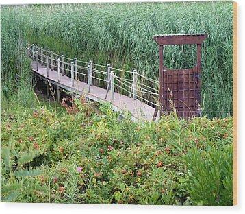 Bridge Over Eel River Wood Print by Janice Drew
