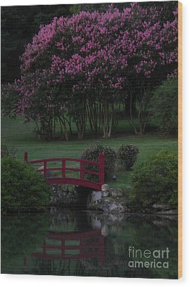 Bridge Over Peaceful Waters Wood Print by Amy Stuart Langlo