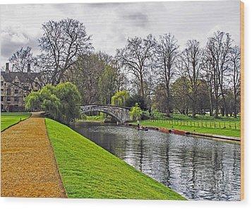 Bridge Over River Cam Wood Print