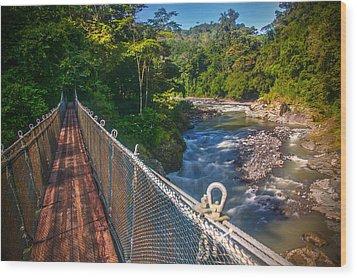 Bridge Over The Pacuare Wood Print