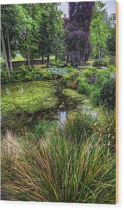 Bridge Over The Pond Wood Print by Ian Mitchell