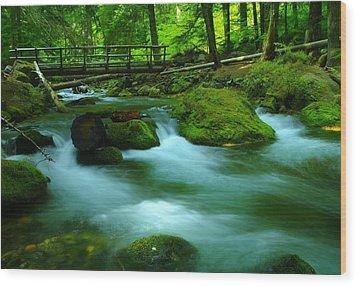 Bridge Over The Tananamawas Wood Print by Jeff Swan