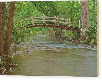 Bridge Over Valley Creek Wood Print by Michael Porchik