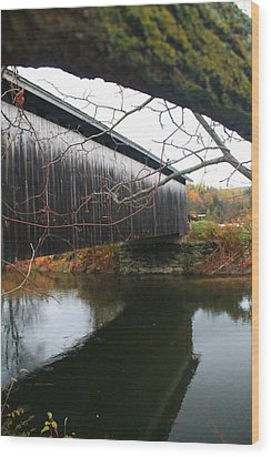Wood Print featuring the photograph Bridge Reflection by Alicia Knust