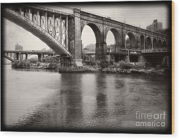 Bridge Reflections Wood Print by Paul Cammarata