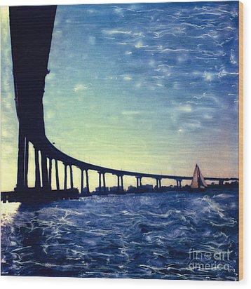 Bridge Shadow Wood Print
