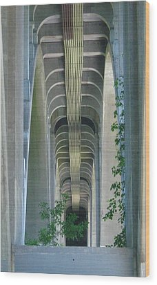 Wood Print featuring the photograph Bridge Spine by Bruce Carpenter