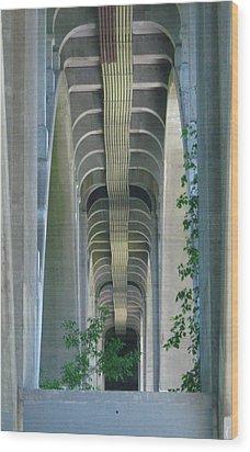 Bridge Spine Wood Print by Bruce Carpenter