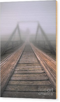 Bridge To Fog Wood Print by Veikko Suikkanen