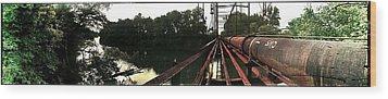 Bridge To La La Land Wood Print by Erica Springer