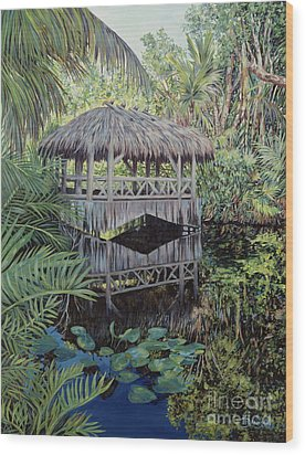 Bridge To Paradise Wood Print by Danielle  Perry