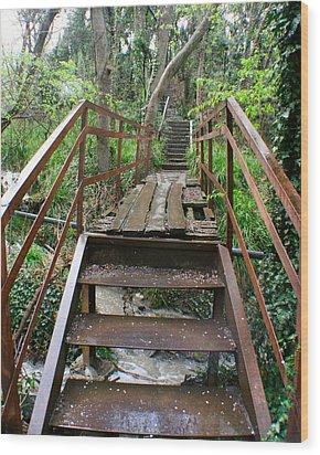 Wood Print featuring the photograph Bridge To Simiez by Jon Emery