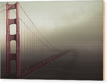 Bridge To The Unknown Wood Print by Jeffrey Yeung