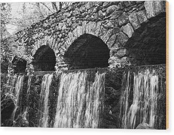 Bridge Water Wood Print by Kenneth Feliciano
