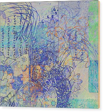 Wood Print featuring the digital art Bridges by Gabrielle Schertz