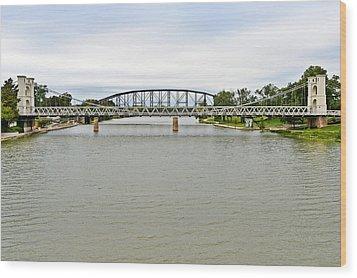 Bridges In Waco Tx Wood Print by Christine Till