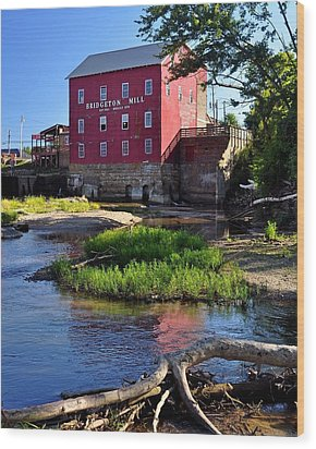 Bridgeton Mill 2 Wood Print by Marty Koch