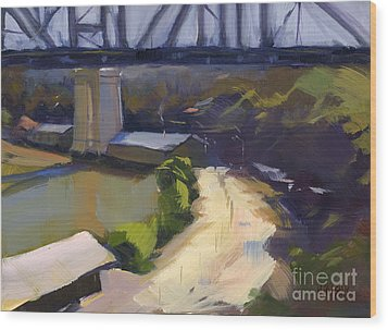 Bridging Gaps After Colley Whisson Wood Print
