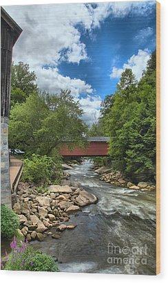 Bridging Slippery Rock Creek Wood Print
