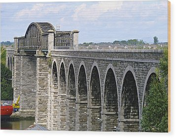 Bridging The Boyne Wood Print