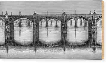 Wood Print featuring the photograph Bridging The Susquehanna  by JC Findley