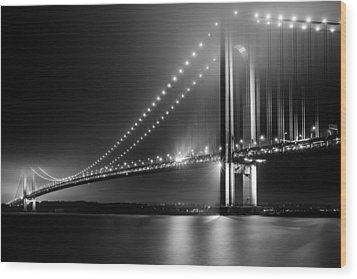 Bridging Verrazano Narrows Wood Print