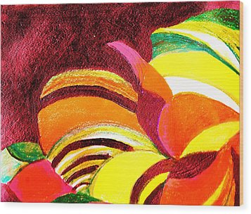 Bright Abstraction Wood Print by Anne-Elizabeth Whiteway