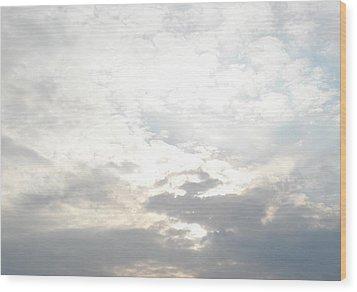 Bright Clouds Wood Print